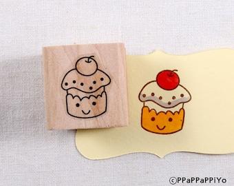 40% OFF SALE Cute cupcake Rubber Stamp