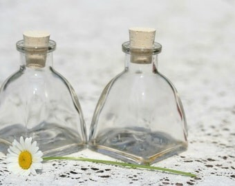 30 Empty 2oz Corked Bottles 60ml Clear Glass Bottles  Empty Glass Bottle Wedding Favor Bottle Potion Bottle Baptism Favor Holy Water Bottle