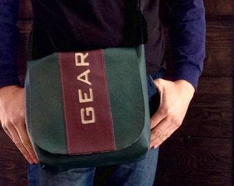 Man Bag 20 Dark Green Burgundy Messenger Bag for Men Satchel GEAR