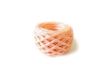 Linen peach yarn, linen thread, linen natural 3ply yarn, thick yarn, crochet yarn, knitting weaving yarn