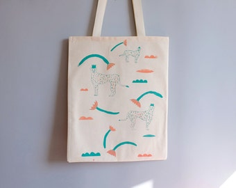 Tote Bag, Silkscreen, King Leopard