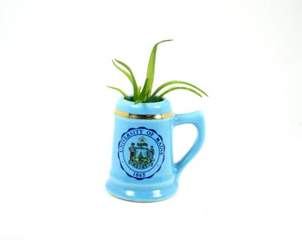 Mini College Tankard - University of Maine Toothpick Holder - Miniature Souvenir Mug