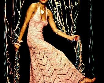 Vintage CROCHET Dress Pattern -  PDF Pattern - Instant Download - Crochet Dress PDF Pattern