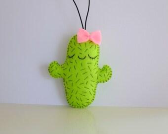 Cute cacti plush ornament strap toy car decoration