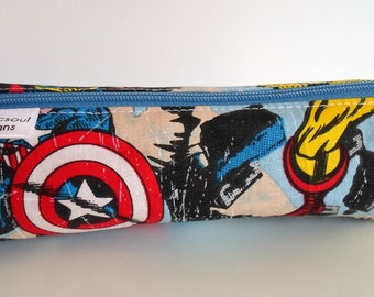 Pencil Case, Pencil Pouch, School Supply – Marvel Comics Super Hero - Toiletry & Cosmetics Bag