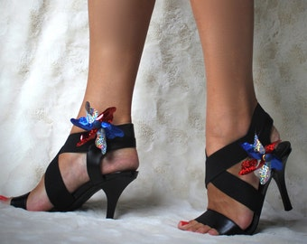 4th of July Pinwheel Shoe Clips - THEY SPIN!