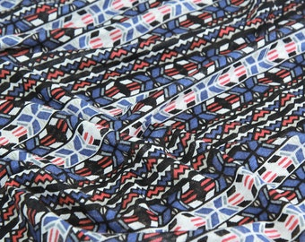 """Geometric Cotton Knit Fabric - 59"""" Wide - By the Yard - 80101"""