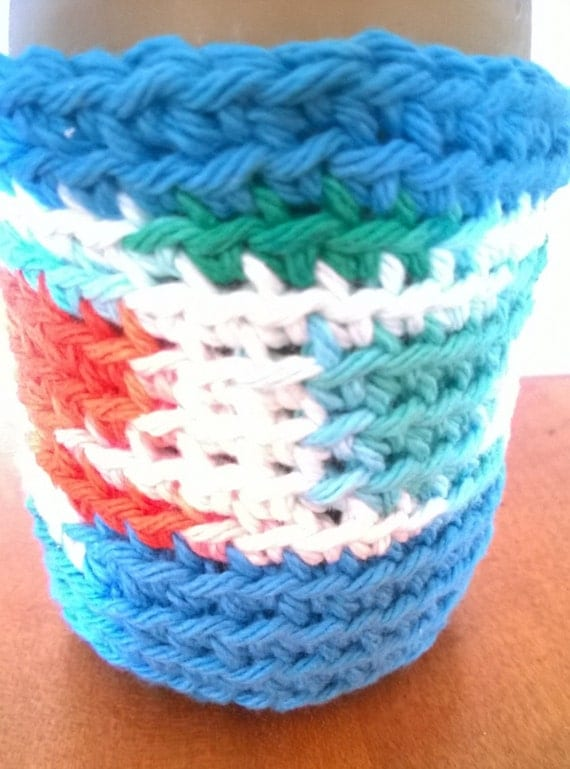 Crochet Patterns For Koozies : Crochet KOOZIES Set of 2 or 3 CHOOSE COLORS by ...