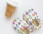Ice Cream Cones Baby Shoes Vegan Organic Soft Sole