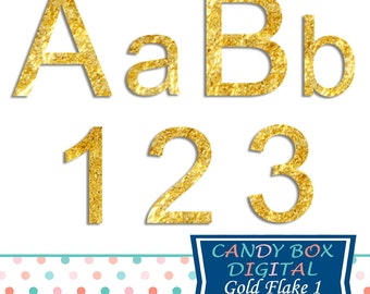Gold Alphabet Clipart, Alphabet Font Clip Art - Commercial Use OK