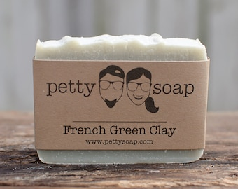 French Green Clay Soap - Cold Process Soap, All Natural Soap, Handmade Soap, Vegan Soap