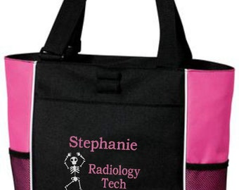 Radiology Tech Tote, Radiology Tech, Tote Bags, X-Ray Tech Bags, X-Ray Tech Tote, Gift for Nurse, Skeleton, Personalized Gifts, RT(R)