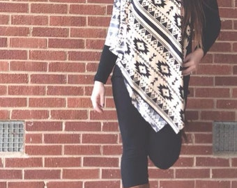 Tribal Scarf Vest 5-in-1