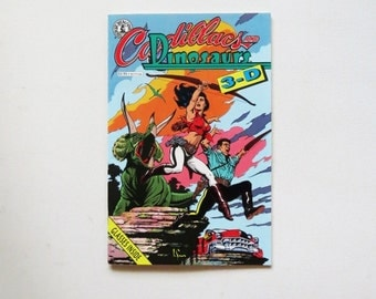 Cadillacs and Dinosaurs in 3D Number 1 Published by Kitchen Sink, Inc., 1992 3D Glasses included Mature Content