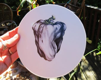 Large White Pepper Ween 6 Inch Series High Quality Vinyl Sticker