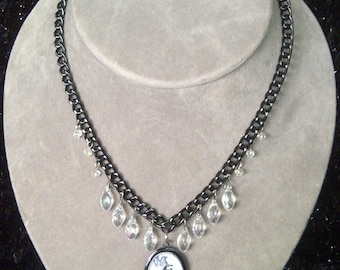Butterfly & Crystal Necklace