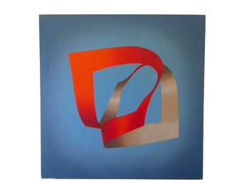Hard Edge Geometric Abstract Painting, signed Salvatore