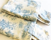 Items similar to Vintage Romantic Home Shy Blue French ...