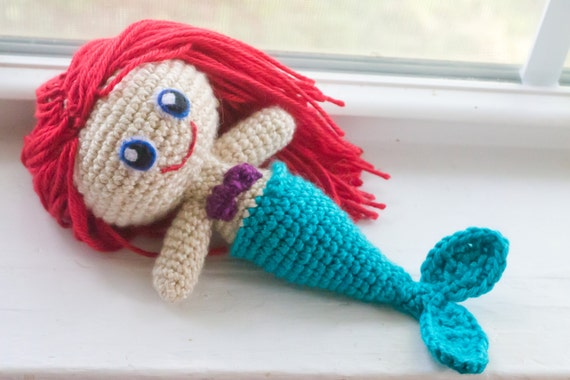 Mermaid Doll - Choose Your Own Colors - Crochet Mermaid Doll