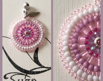 Boho chic beadwork pendant