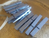 Metalic Silver Clothespins