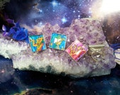 Cosmic shaman Aztec square rings