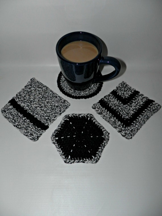 Crochet coaster or trivet cotton drink coaster by for Best coasters for sweaty drinks