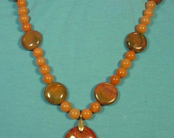 """WOW!  Awesme 18"""" Picasso Jasper Necklace - N394"""