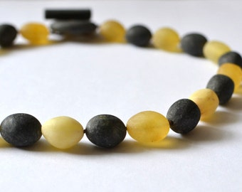 Amber Necklace / Baltic Amber Statement Necklace / Unpolished Amber / Summer Fashion