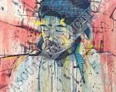 Nujabes Samurai Champloo Hip hop Music Watercolor Painting
