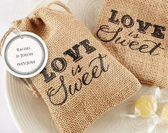 Burlap Favor Bag (Set of 24), burlap wedding favors, rustic favor bags, unqiue favor bags