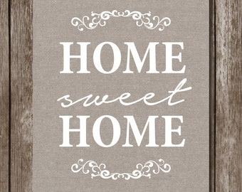 Home Sweet Home Print//Home Decor//8x10//Instant Download