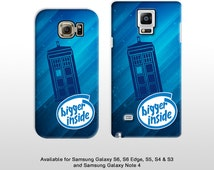 Samsung Galaxy S7 Edge S6 & Note 4 5 Doctor Who Tardis case. Featuring 'Bigger inside' phrase Dr Who Samsung galaxy s5 s4 FP167