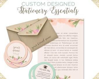 Custom Designed STATIONERY ESSENTIALS- Business Card, Letterhead and Envelope