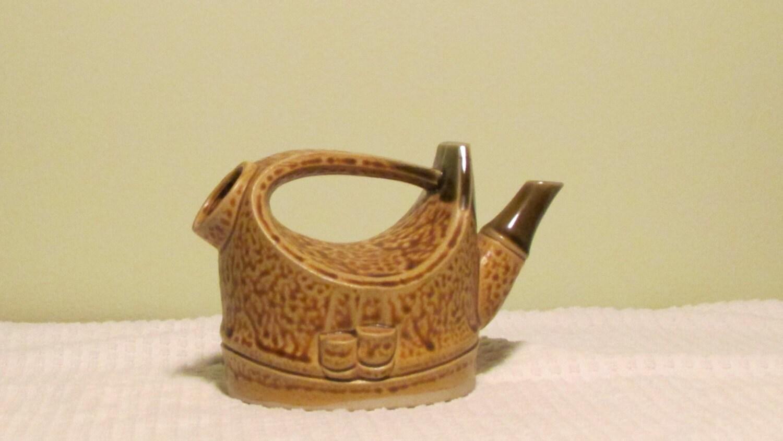 Vintage Kettle Teapot Unique Design Glazes Folk By