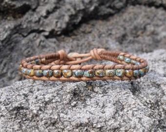 Leather Wrap Bracelet, Mens Braclet, Womens Bracelet, Enviromentally Friendly Leather, Western Leather Bracelet