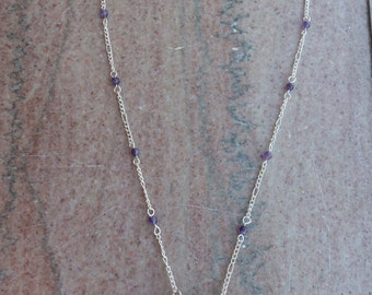 Amethyst Filigree Wrapped Necklace
