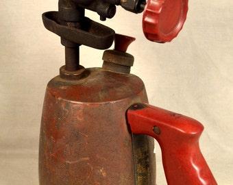 Blow Torch Brass Vintage Red Bakelite Handle Steampunk Decor