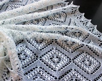 Lace baby blanket, hand knit christening heirloom baby shawl, newborn photo prop, Estonian lace, newborn knit blanket,  baby shower gift