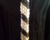 Scalemaille Necktie/ Chainmaille Tie made with anodized aluminum scales. Scale Mail tie/ Scale Maille Tie/ Chainmail Tie/ Chain Mail Tie