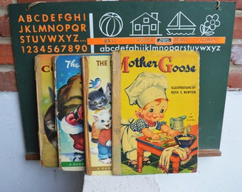 1950s Children's Giant Books (Set of 4)
