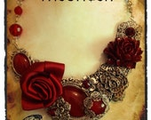 Scarlet Roseheart Gothic Necklace