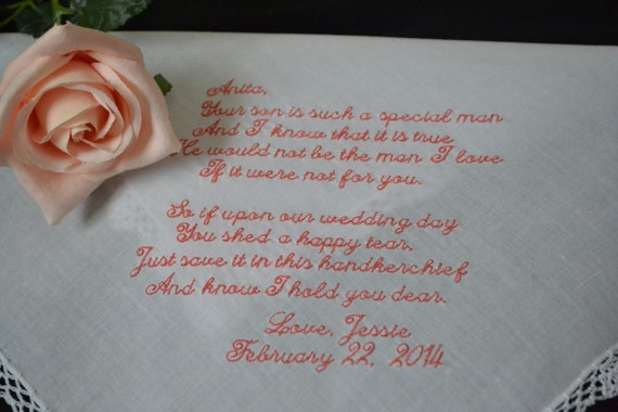 Wedding Gift For Future Son In Law : Wedding Hanky Gift for Future Mother in Law