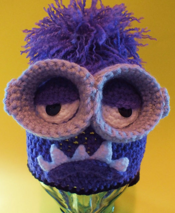 Purple Monster Hat and Removable Goggles Pattern©