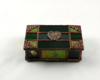Victorian Stained Glass Box