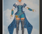 Falsetto from Eternal Sonata Articulated Paper Doll, Printable PDF, You Color