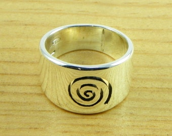 Spiral - Ring Band - Silver 925 - made in italy