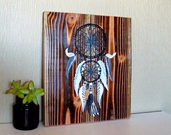 Items similar to dream catcher painting canvas on etsy for Dream catcher spray painting