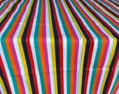 Cabana Stripe Cotton Fabric 1 + Yards 60 Inch Wide Graphic Multicolor Vertical Print Medium Weight Fabric Upholstery Accessories