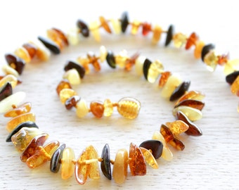 Baltic Amber teething necklace for baby